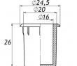 Заглушка для антисреза 20 мм