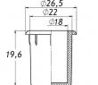 Заглушка для антисреза 22 мм