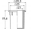 Заглушка для антисреза 25 мм