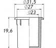 Заглушка для антисреза 27 мм