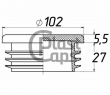 Заглушки круглые 102 мм ДУ 90