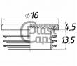 Заглушка круглая внутренняя 16 мм
