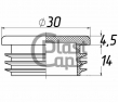 Заглушка круглая внутренняя 30 мм