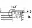 Заглушка круглая 32 мм ДУ 25