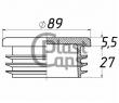 Заглушки круглые 89 мм ДУ 80