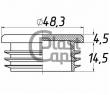 Заглушки круглые 48,3 мм ДУ 40