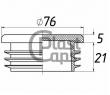 Заглушки круглые 76 мм ДУ 65
