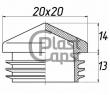 Заглушка квадратная внутренняя 20х20 пирамида