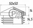 Заглушка квадратная внутренняя 50х50 пирамида