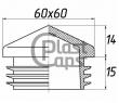 Заглушка квадратная внутренняя 60х60 пирамида