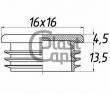 Заглушка квадратная внутренняя 16х16 мм