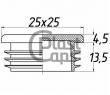 Заглушка квадратная внутренняя 25х25