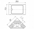 Уголок мебельный одинарный (200 шт в упаковке)