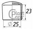 Заглушки круглые наружные 25 мм