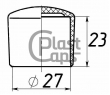 Заглушки круглые наружные 27 мм