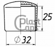 Заглушки круглые наружные 32 мм