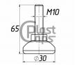 Регулируемая опора М10 D30M10L65