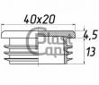Заглушка прямоугольная внутренняя 20х40