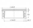 Заглушка прямоугольная 15х60 мм