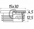 Заглушка прямоугольная 15х30