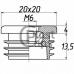 Заглушка 20х20 с резьбой М6 0
