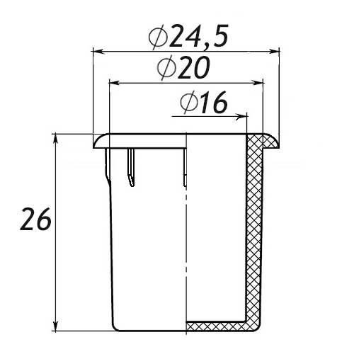 Заглушка для антисреза 20 мм-0