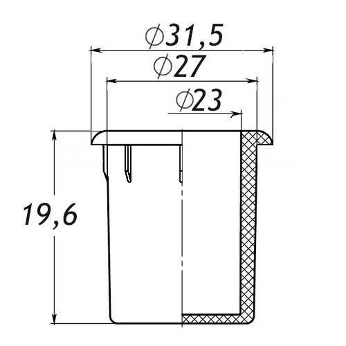 Заглушка для антисреза 27 мм-0