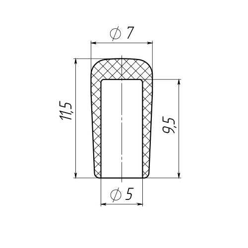 Колпачок на пруток 5 мм-0