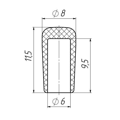Колпачок на пруток 6 мм-0