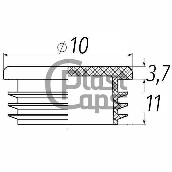 Заглушка круглая 10 мм-0