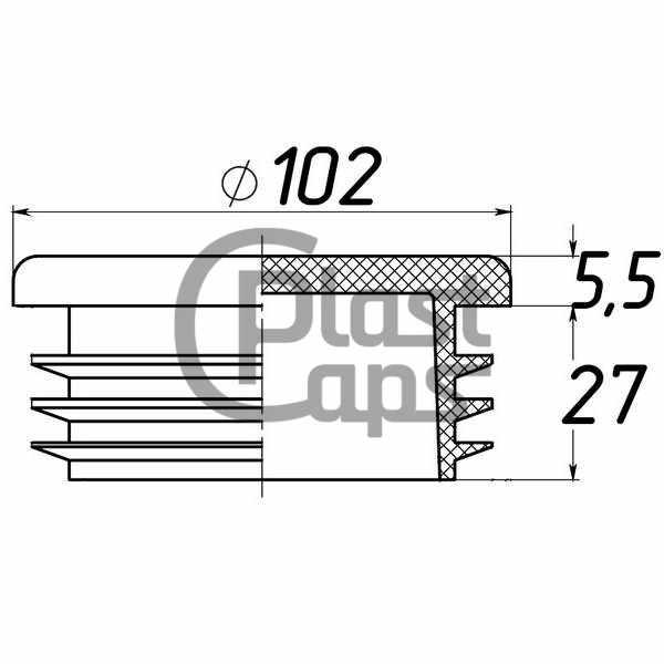 Заглушки круглые внутренние 102 мм-0