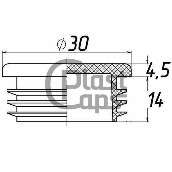 Заглушка круглая внутренняя 30 мм-0