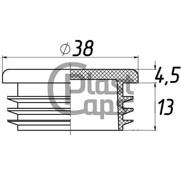 Заглушки круглые внутренние 38 мм-0