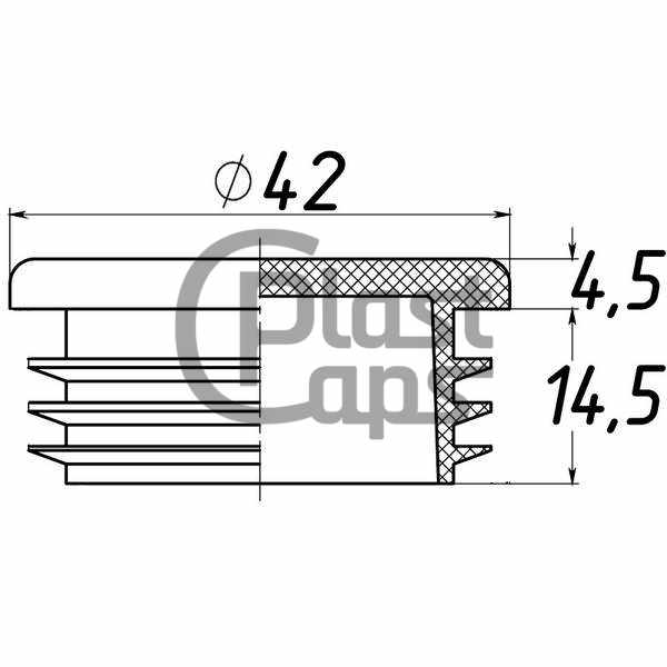 Заглушки круглые внутренние 42 мм-0
