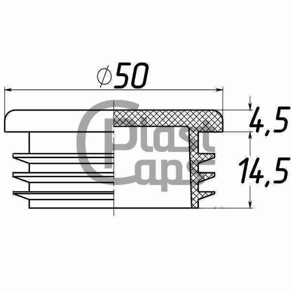 Заглушки круглые внутренние 50 мм-0