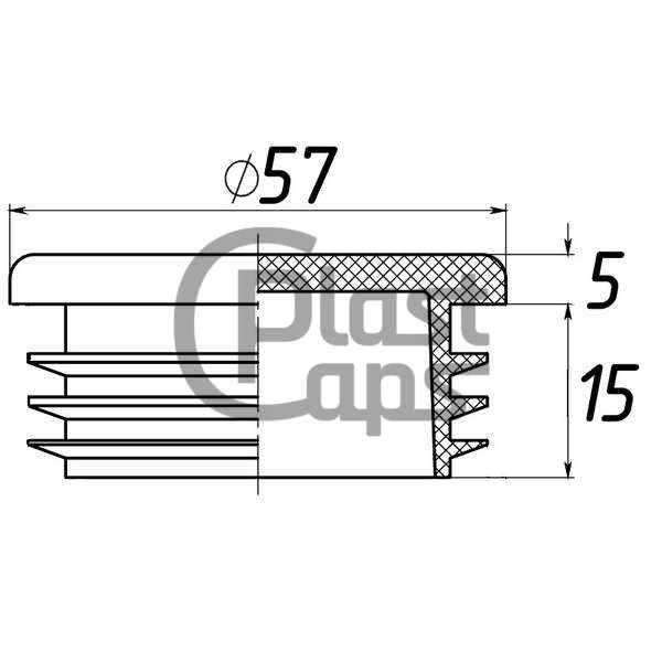 Заглушки круглые внутренние 57 мм-0