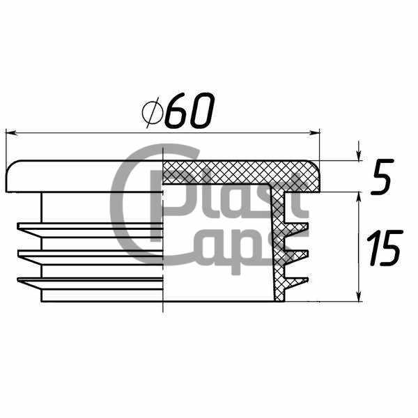 Заглушки круглые внутренние 60 мм-0