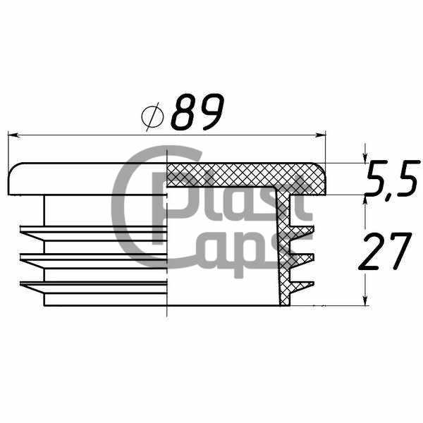 Заглушки круглые 89 мм ДУ 80-0