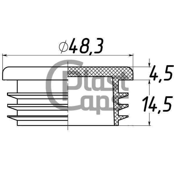 Заглушки круглые 48,3 мм ДУ 40-0