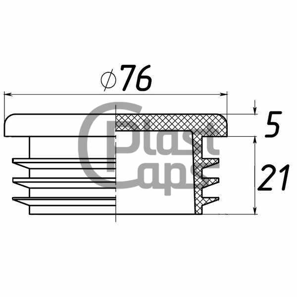 Заглушки круглые 76 мм ДУ 65-0