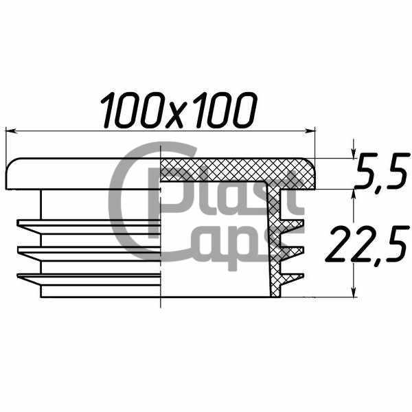 Заглушка квадратная 100х100-0