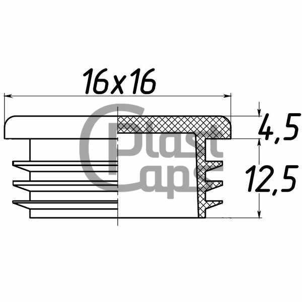 Заглушка квадратная 16х16-0