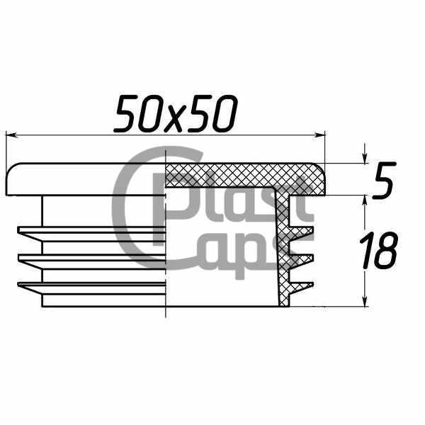 Заглушка квадратная 50х50-0