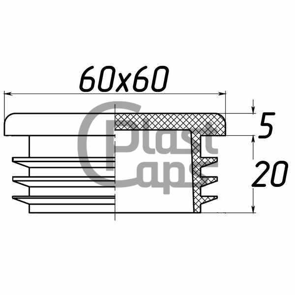 Заглушка квадратная 60х60-0