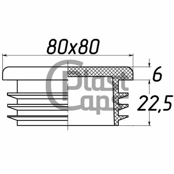 Заглушка квадратная 80х80-0
