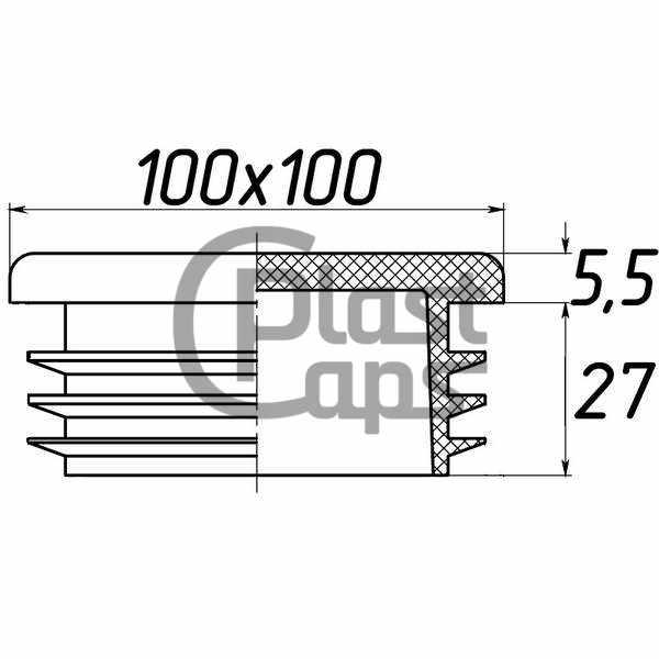 Заглушка квадратная внутренняя 100х100-0