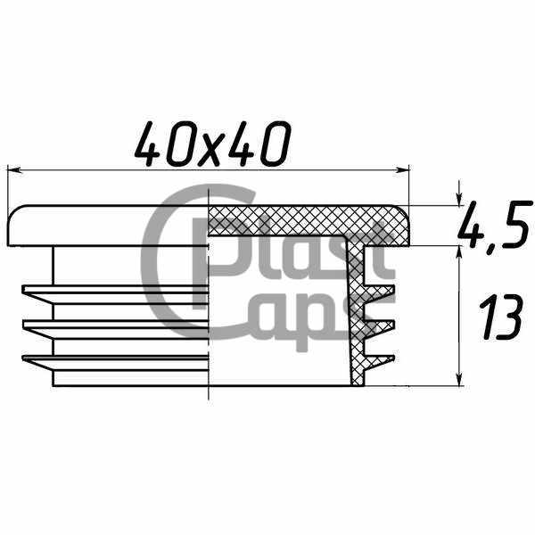 Заглушка квадратная внутренняя 40х40-0