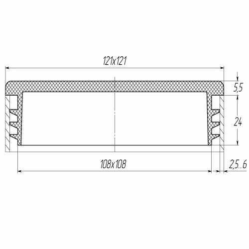 Заглушка квадратная внутренняя 120х120-0