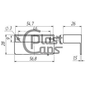 Крепление для ламелей 53 * 8 мм (ламеледержатель)-0