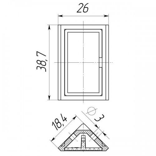 Уголок мебельный двойной (100 шт в упаковке)-0